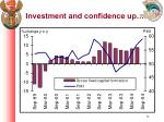 investment and confidence up