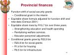 provincial finances