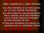 obra dram tica obra teatral