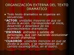organizaci n externa del texto dram tico