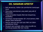 iii sasaran afektif