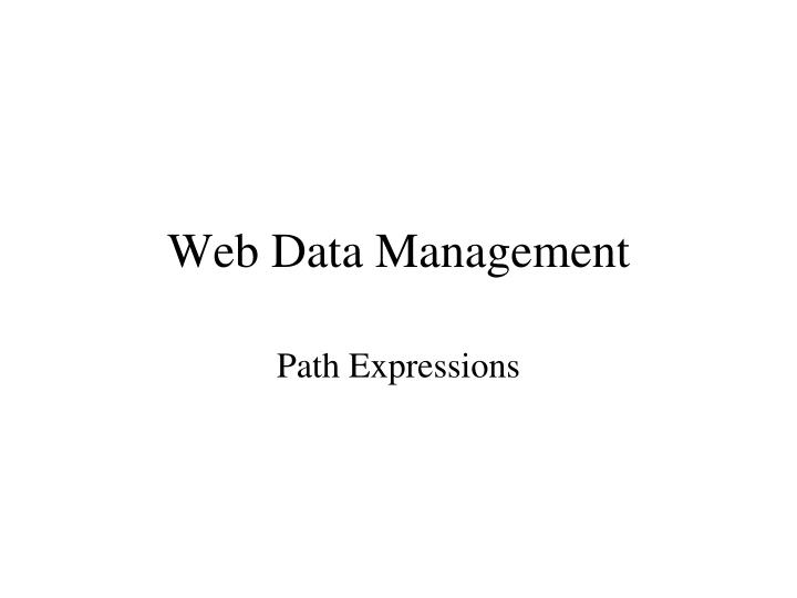 web data management n.