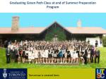 graduating green path class at end of summer preparation program