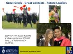 great grads great contacts future leaders