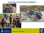 learning in the great outdoors
