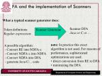 fa and the implementation of scanners1