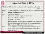 implementing a dfa