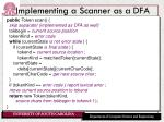 implementing a scanner as a dfa2