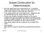 subset construction for determinisation