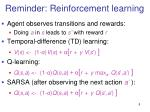 reminder reinforcement learning
