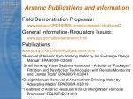 arsenic publications and information