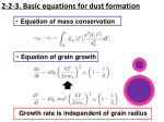 2 2 3 basic equations for dust formation