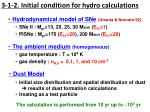 3 1 2 initial condition for hydro calculations