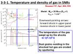 3 3 1 temperature and density of gas in snrs