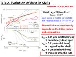 3 3 2 evolution of dust in snrs