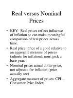 real versus nominal prices