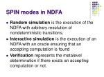 spin modes in ndfa