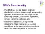 spin s functionality