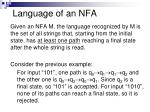 language of an nfa
