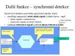 dal funkce synchronn detekce