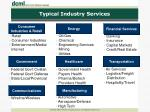 typical industry services