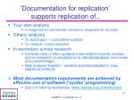 documentation for replication supports replication of