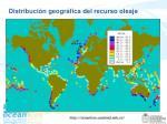 distribuci n geogr fica del recurso oleaje