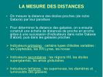 la mesure des distances