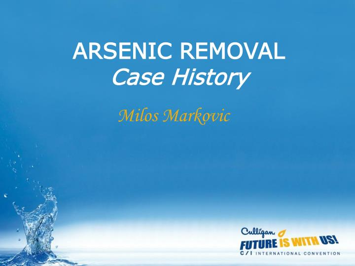 arsenic removal case history n.