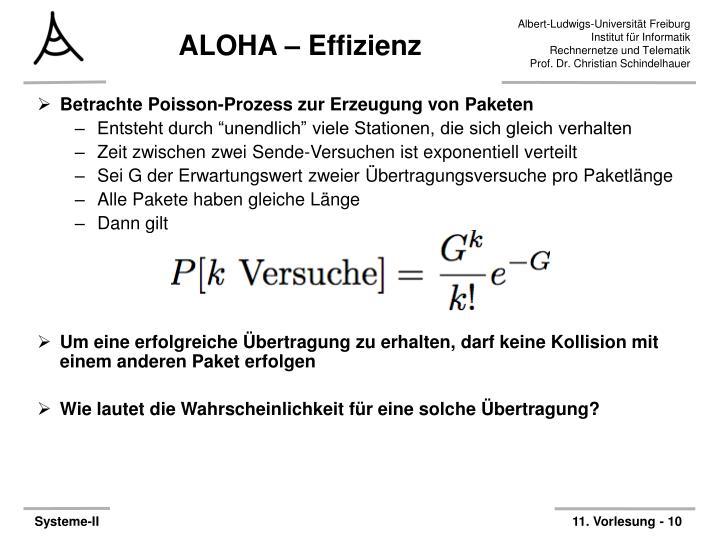 ALOHA – Effizienz