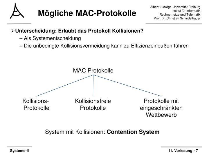 Mögliche MAC-Protokolle