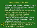 adaptation activities