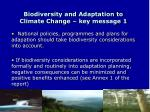 biodiversity and adaptation to climate change key message 1