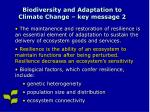 biodiversity and adaptation to climate change key message 2