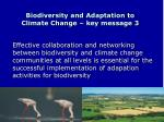 biodiversity and adaptation to climate change key message 3