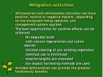 mitigation activities