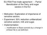eu rsa free trade agreement partial liberalization of the dairy and sugar sectors in the eu