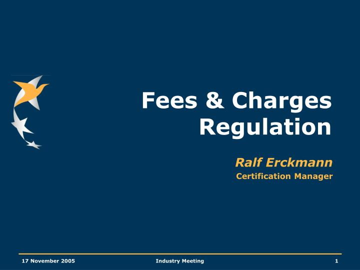 fees charges regulation n.