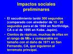 impactos sociales preliminares