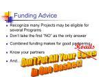 funding advice