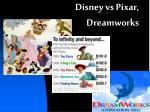 disney vs pixar dreamworks