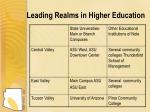 leading realms in higher education
