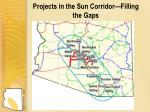 projects in the sun corridor filling the gaps