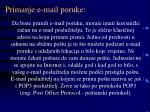 primanje e mail poruke