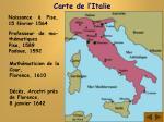 carte de l italie