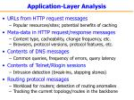 application layer analysis