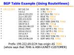 bgp table example using routeviews