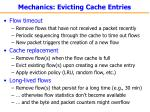 mechanics evicting cache entries