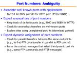 port numbers ambiguity