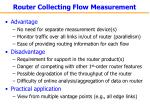 router collecting flow measurement